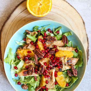 Chicken, Orange and Walnut Salad