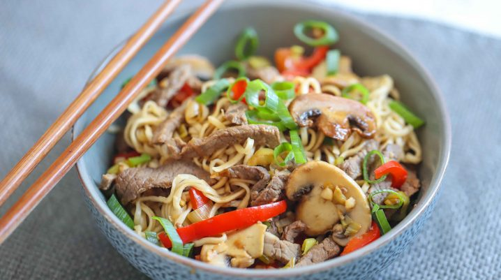 Quick Beef Chow Mein