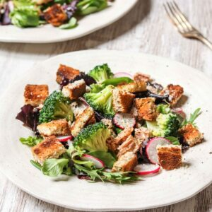 Tuna & Broccoli Salad with Honey Lemon Dressing