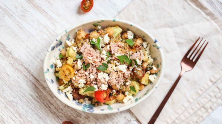 Tuna & Quinoa Tossed Salad (Quick -N- Easy)